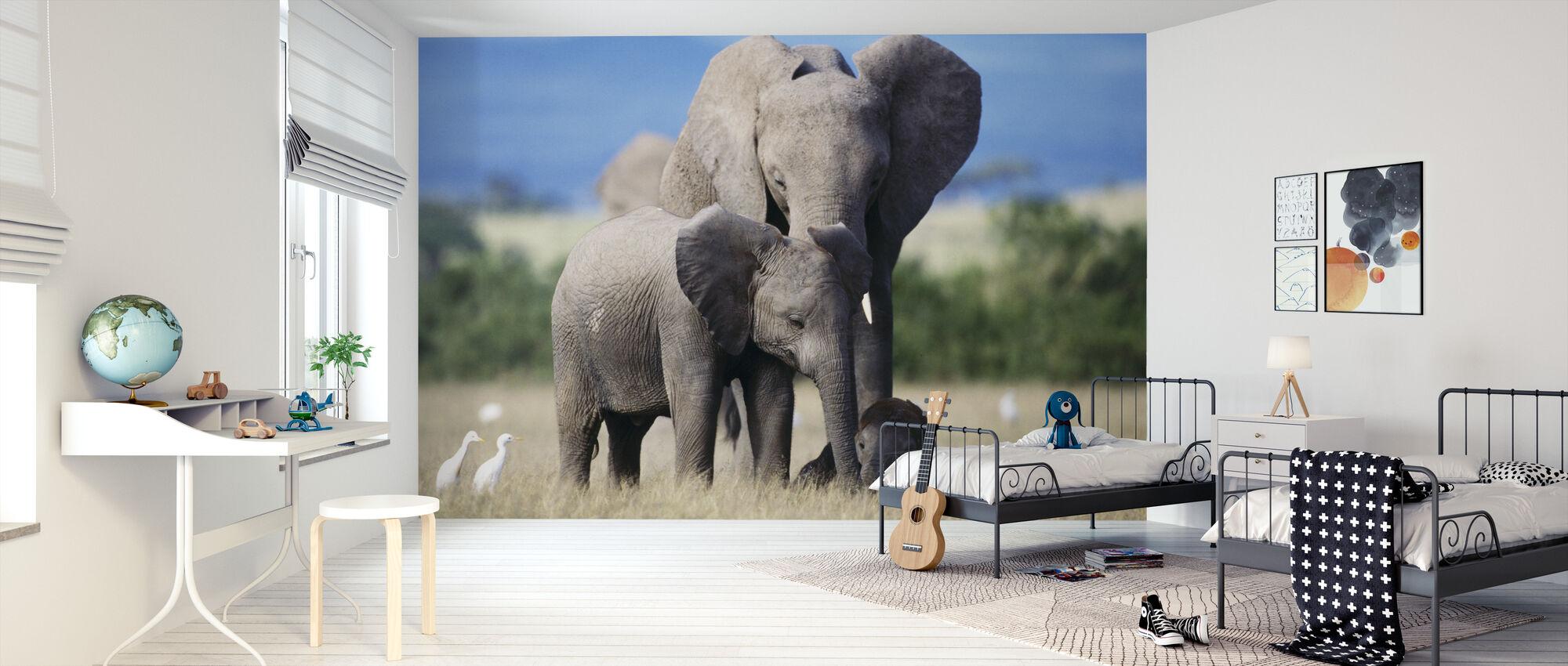 Elephant Family - Wallpaper - Kids Room
