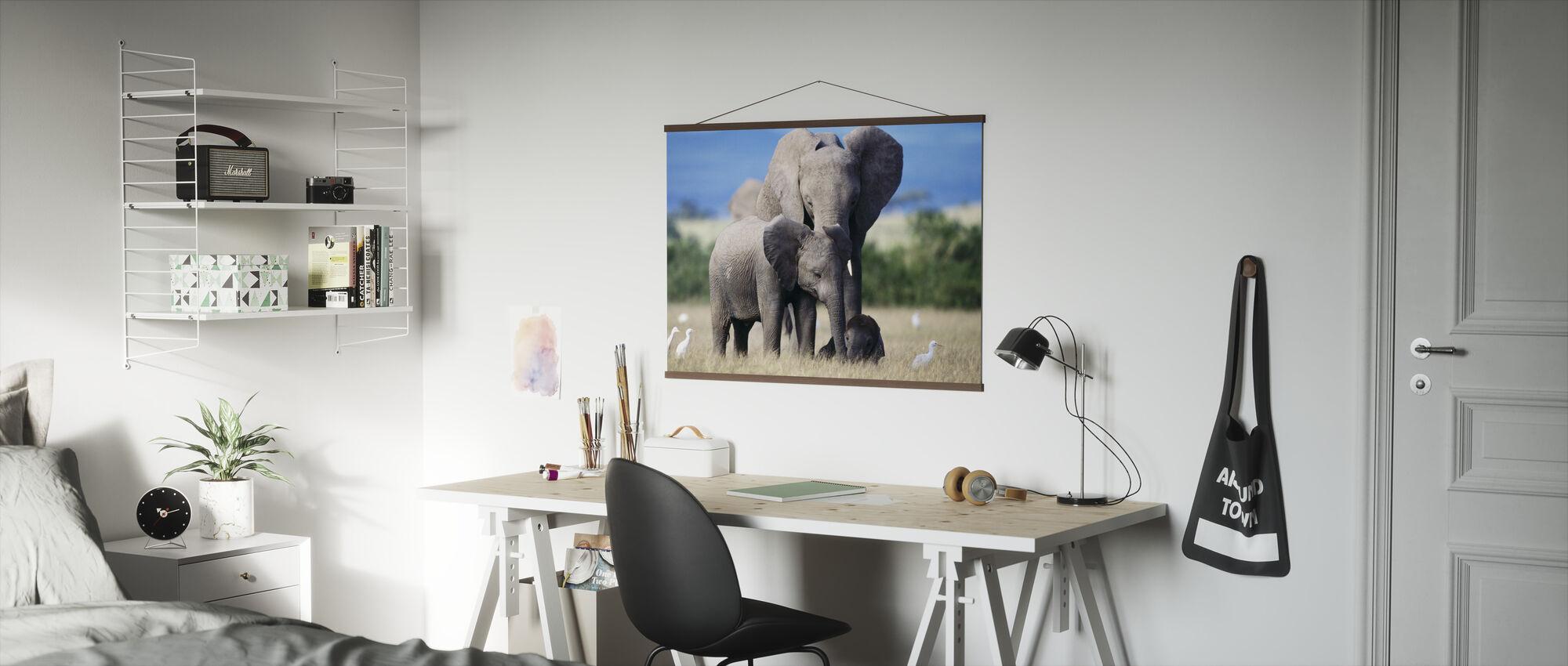 Elephant Family - Poster - Office
