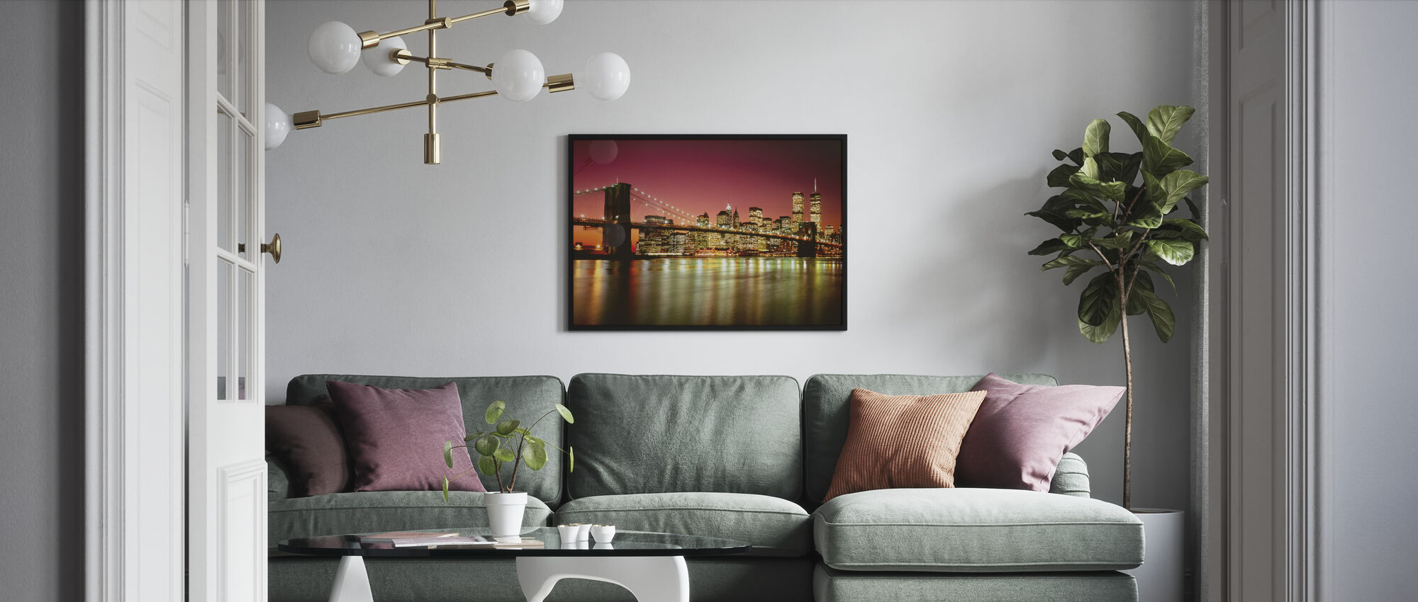 Brooklyn Bridge - Framed print - Living Room