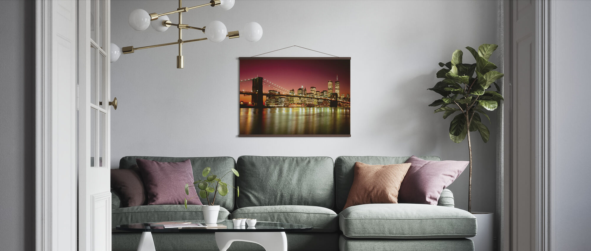 Brooklyn Bridge - Poster - Living Room