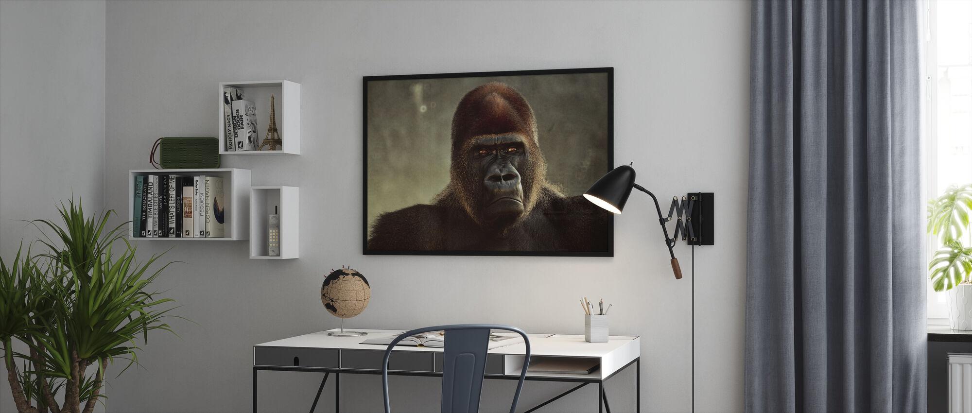 Mektige Gorilla - Innrammet bilde - Kontor