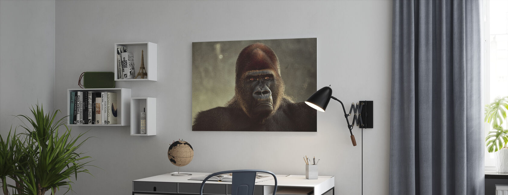 Mighty Gorilla - Canvas print - Office