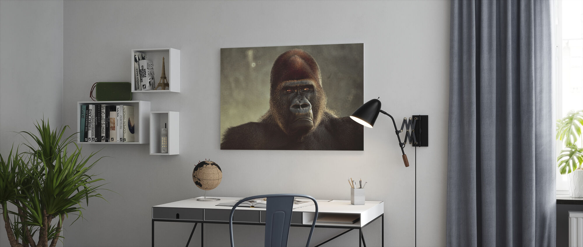 Mäktiga Gorilla - Canvastavla - Kontor