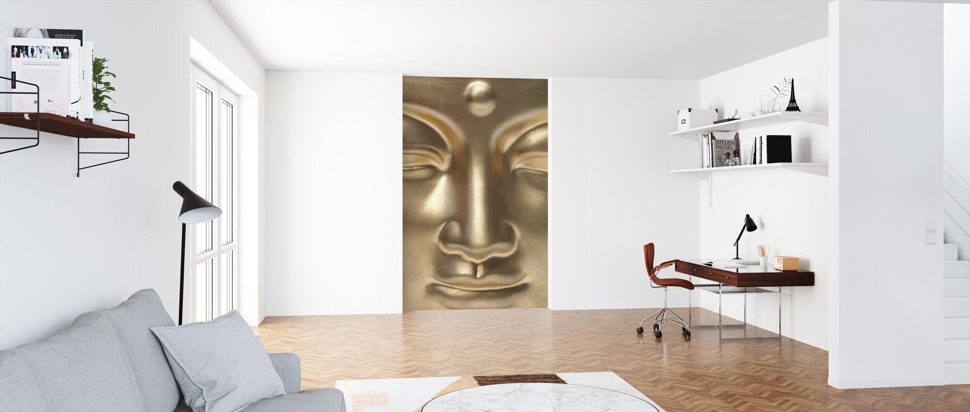 Złoty Budda zbliża się - Tapeta - Biuro