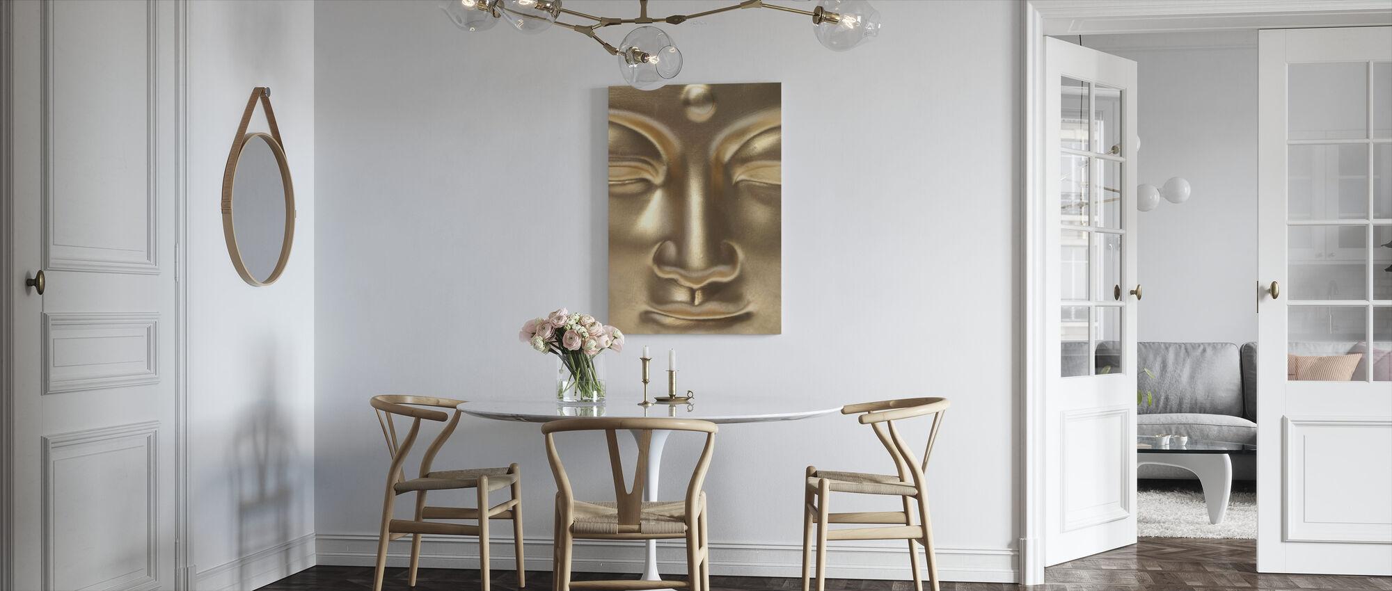 Gouden Boeddha Close Up - Canvas print - Keuken