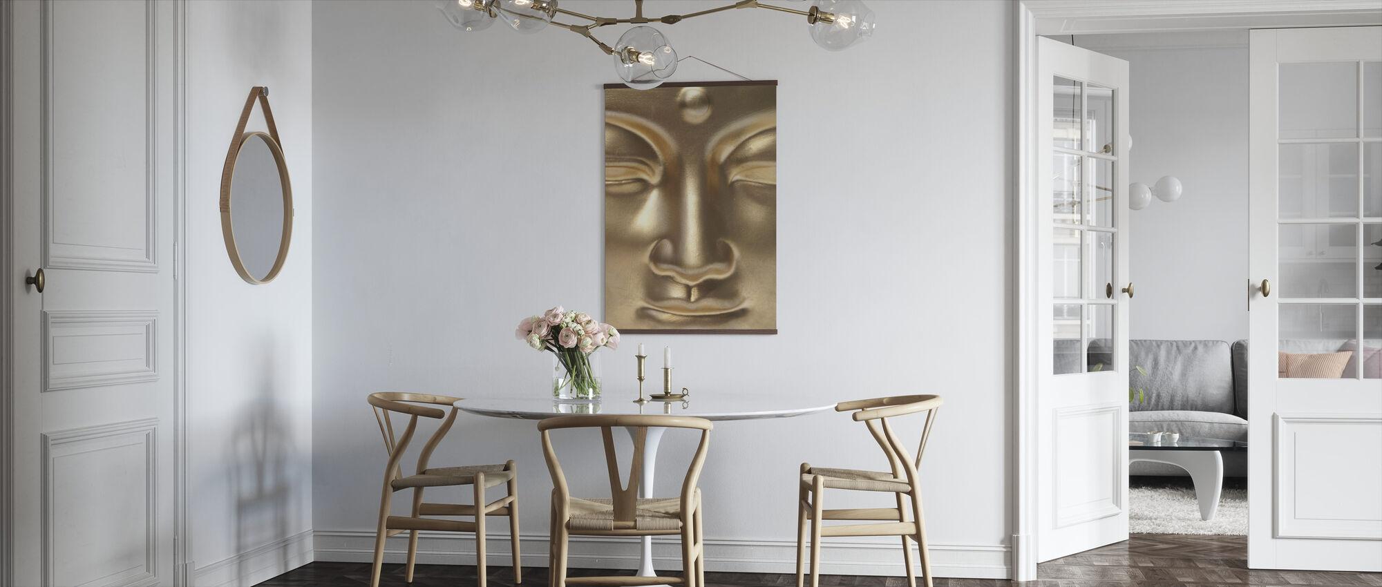 Golden Buddha Close Up - Poster - Kitchen