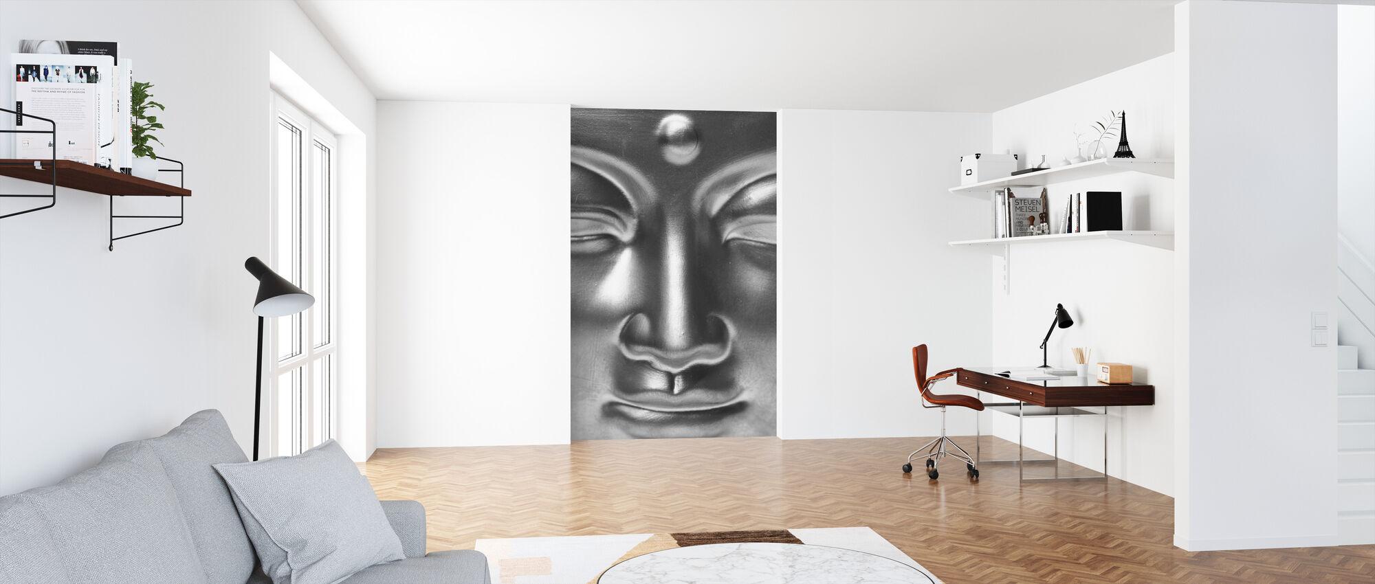 Golden Buddha Close Up - b/w - Wallpaper - Office