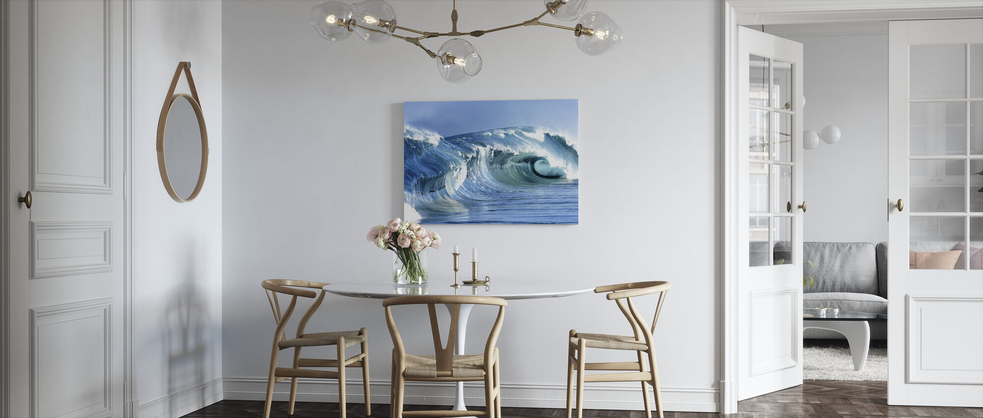 Jarvis Wave - Canvas print - Kitchen