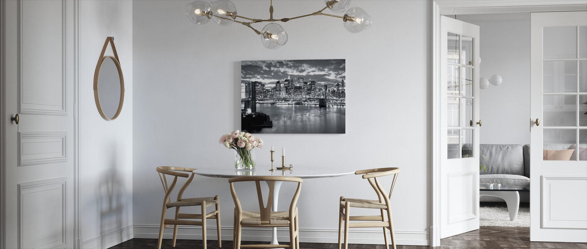 Brooklyn Bridge Cloudy Day - Canvas print - Kitchen