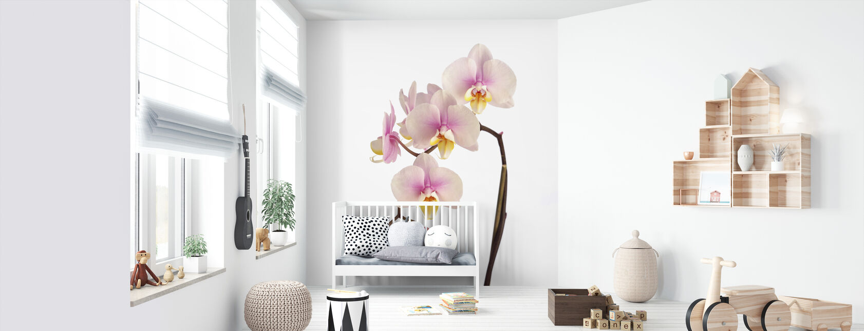 Pink Orchid Stem - Wallpaper - Nursery