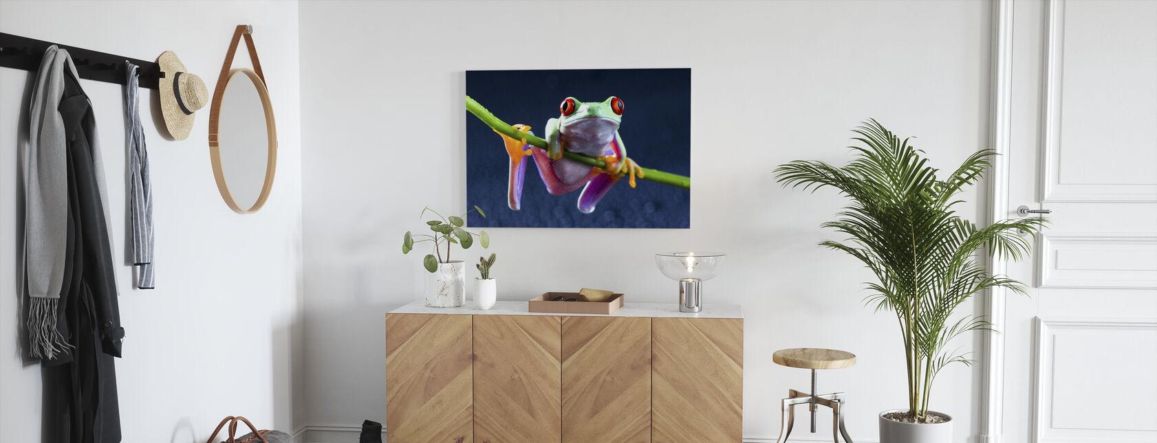 Rode kikker - Canvas print - Gang