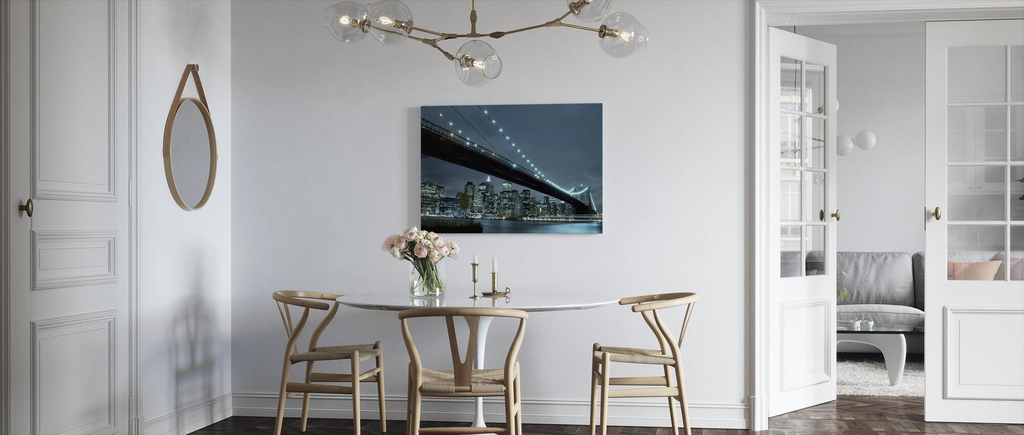 Brooklyn Bridge at Night - Canvas print - Kitchen