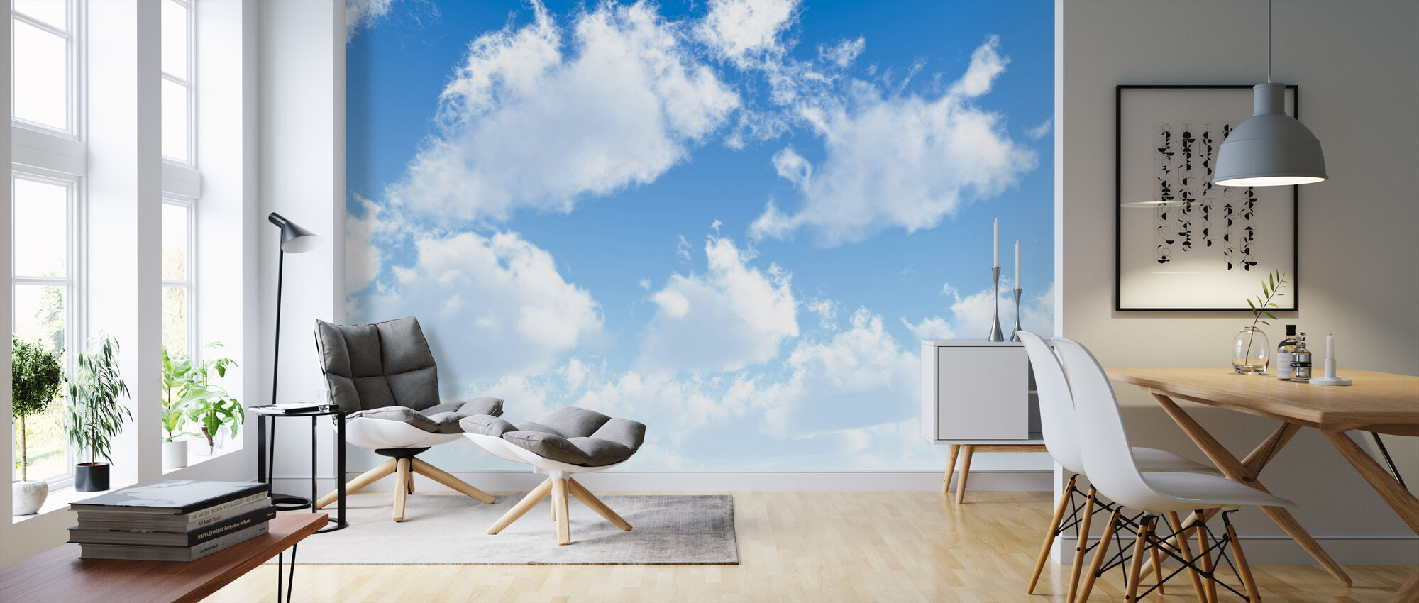 Fluffy Clouds - Wallpaper - Living Room