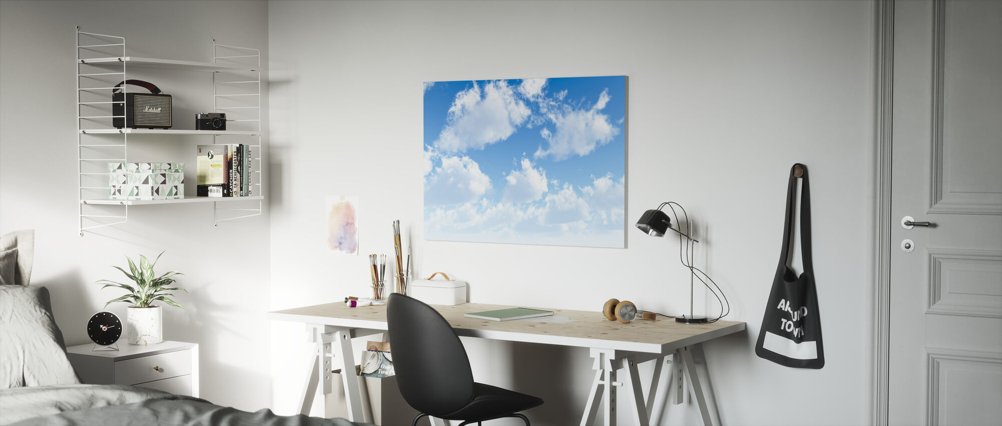 Fluffy Clouds - Canvas print - Kids Room