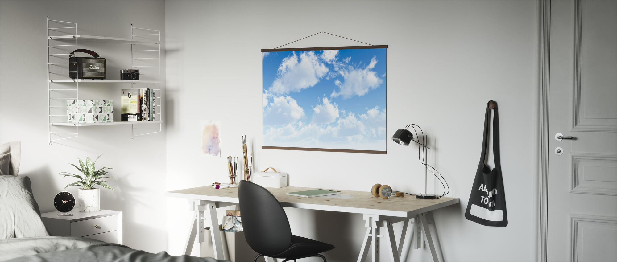 Fluffy Clouds - Poster - Office