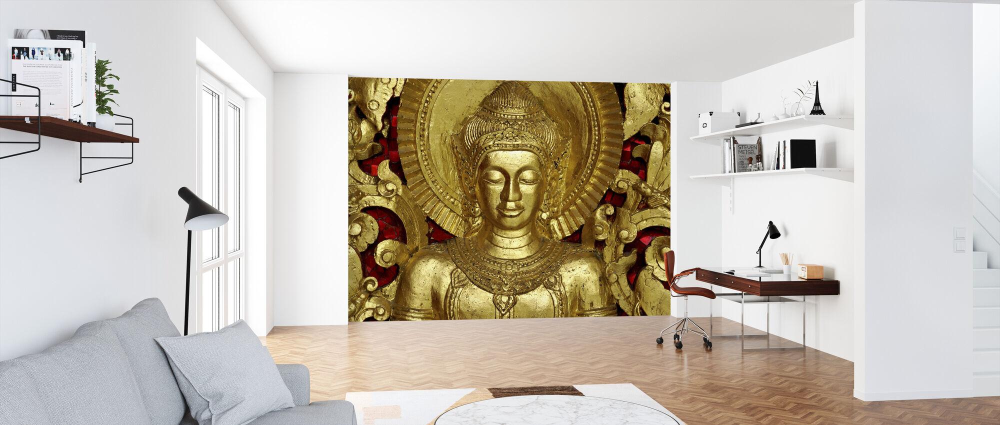 Boeddha - Luang Prabang - Behang - Kantoor