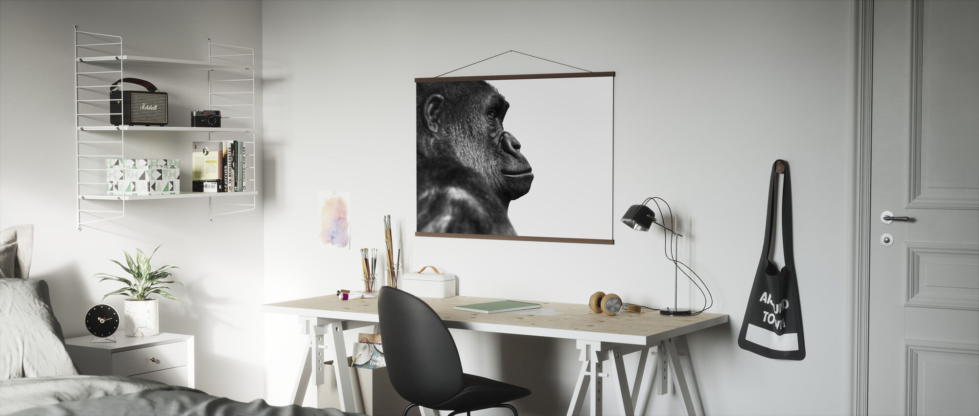 Gorilla - b/w - Poster - Office