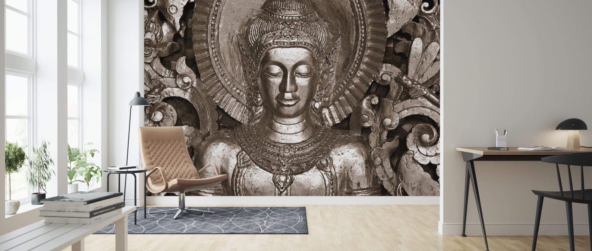 Buddha - Luang Prabang - Sepia - Tapet - Stue
