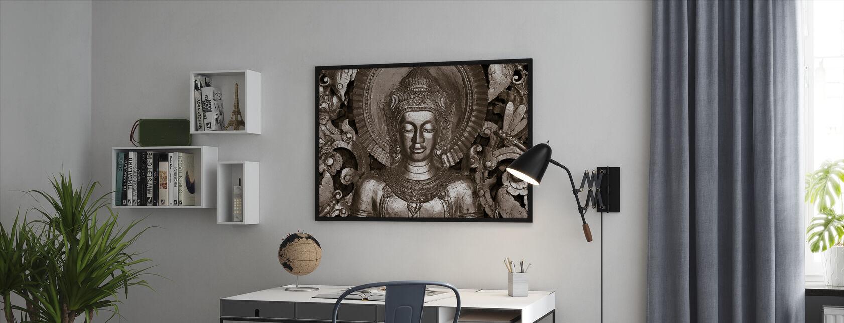 Buddha - Luang Prabang - Sepia - Inramad tavla - Kontor