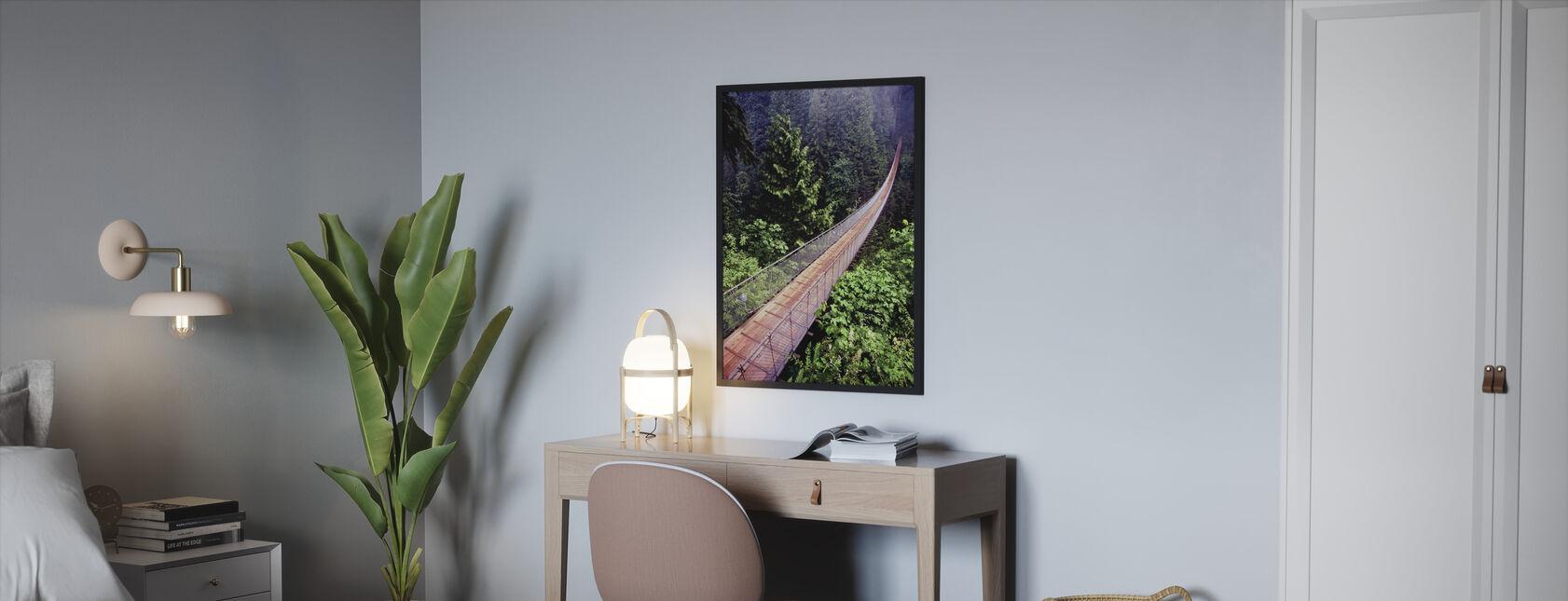 Capilano Bridge - Framed print - Bedroom