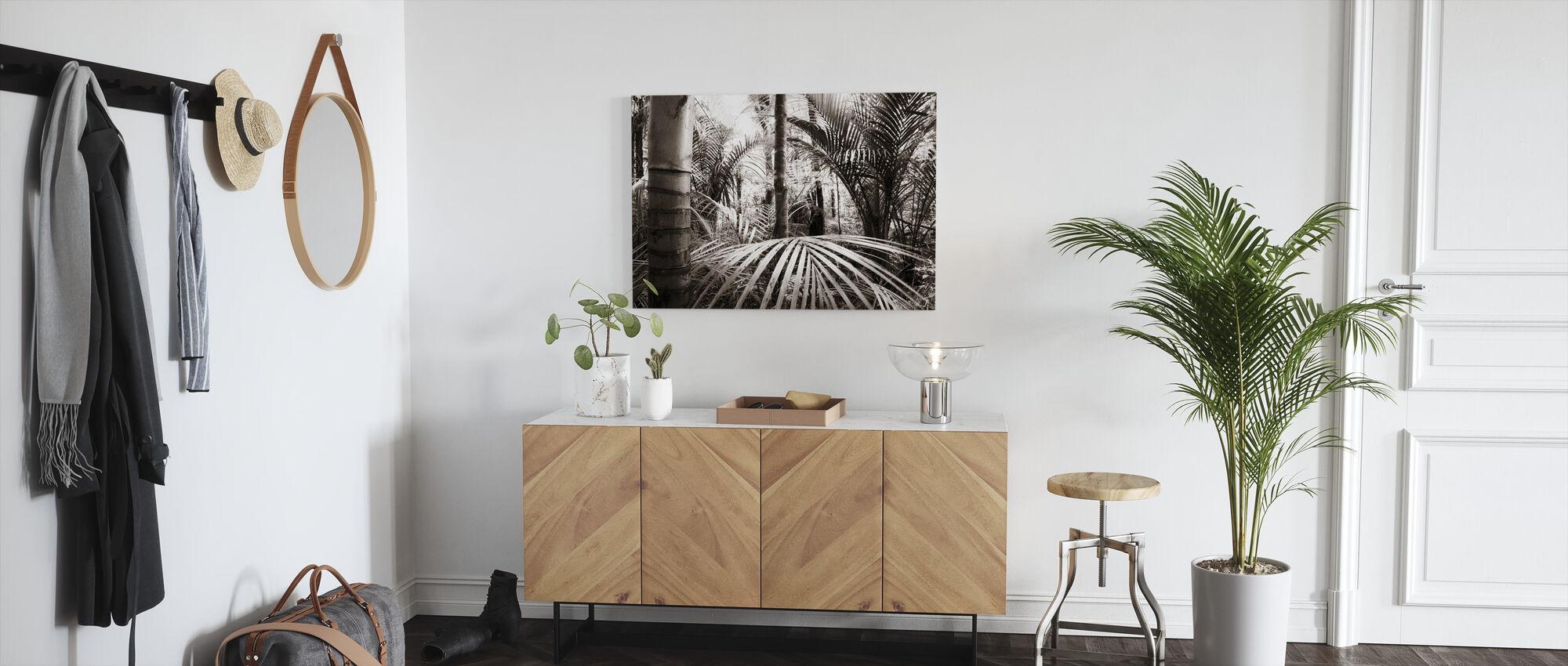 Vegetatie - Sepia - Canvas print - Gang