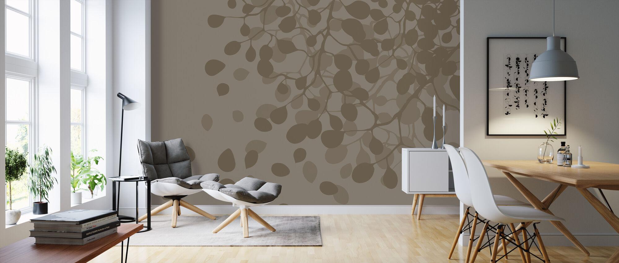 Birch - Earth - Wallpaper - Living Room