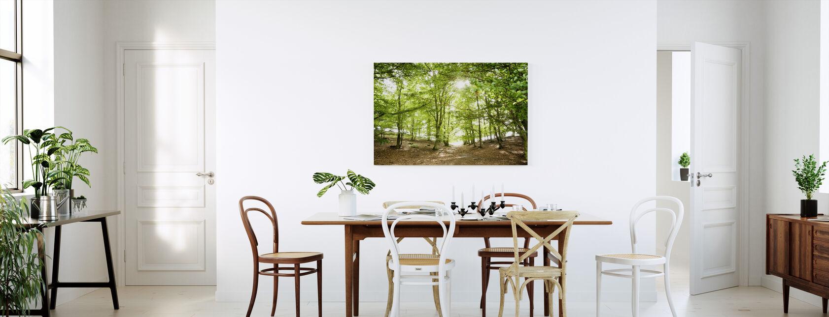 Grøn sti - Billede på lærred - Køkken