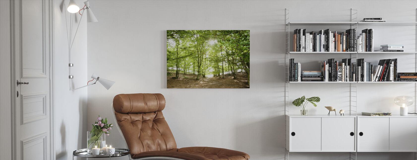 Grøn sti - Billede på lærred - Stue