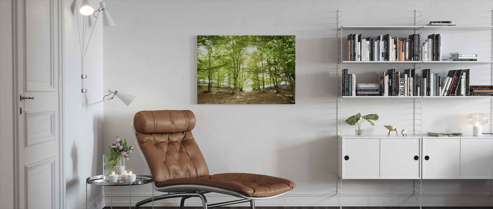 Green Path - Canvas print - Living Room