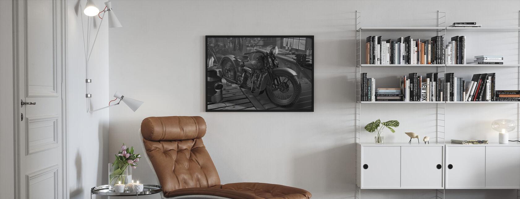 Vanha Lato BW - Kehystetty kuva - Olohuone