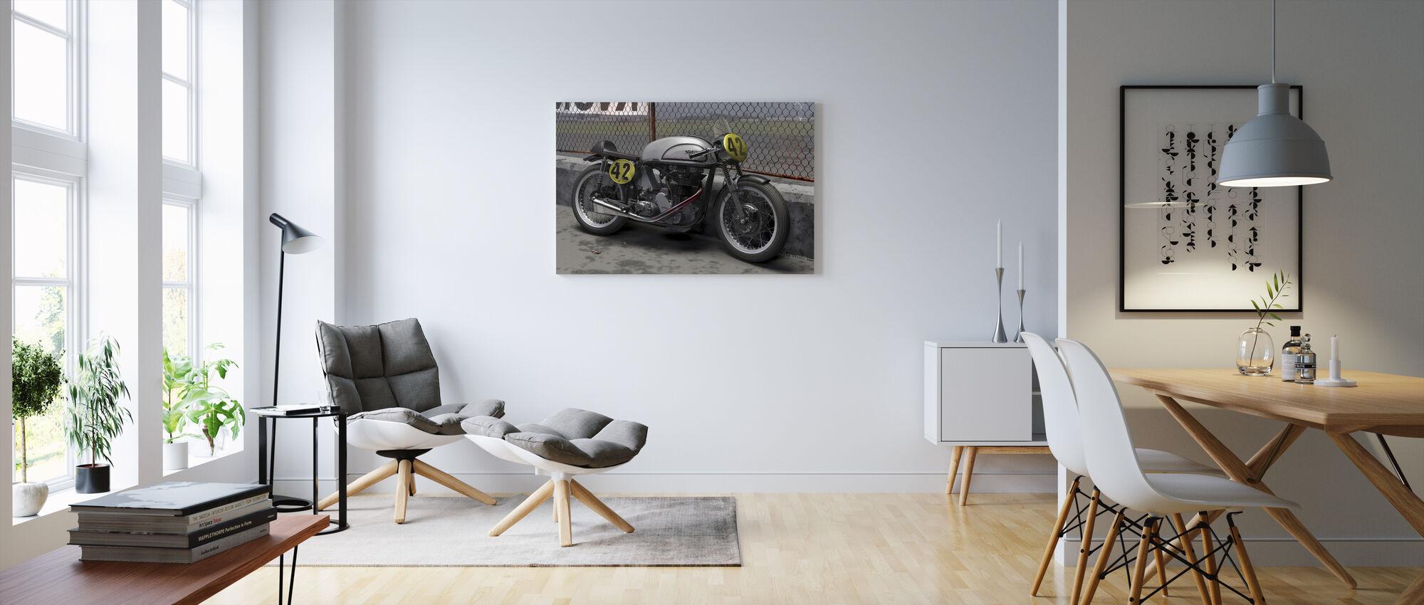 Motorcykel Final - Billede på lærred - Stue