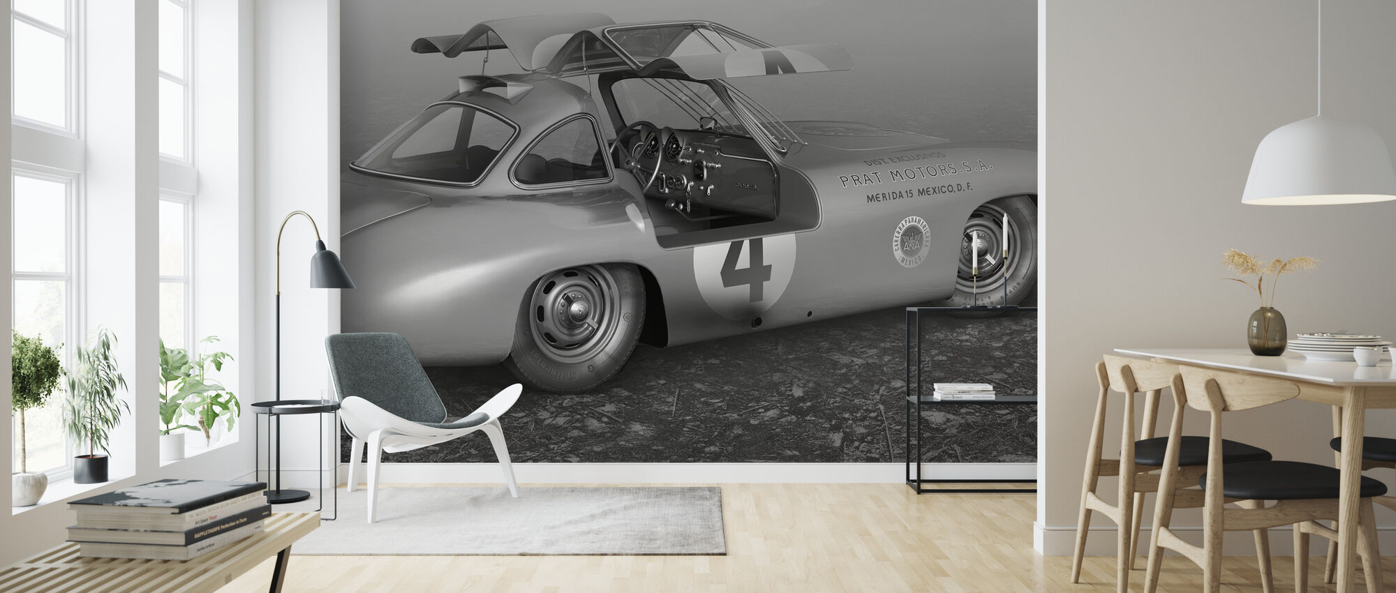 C Panamericana BW - Wallpaper - Living Room