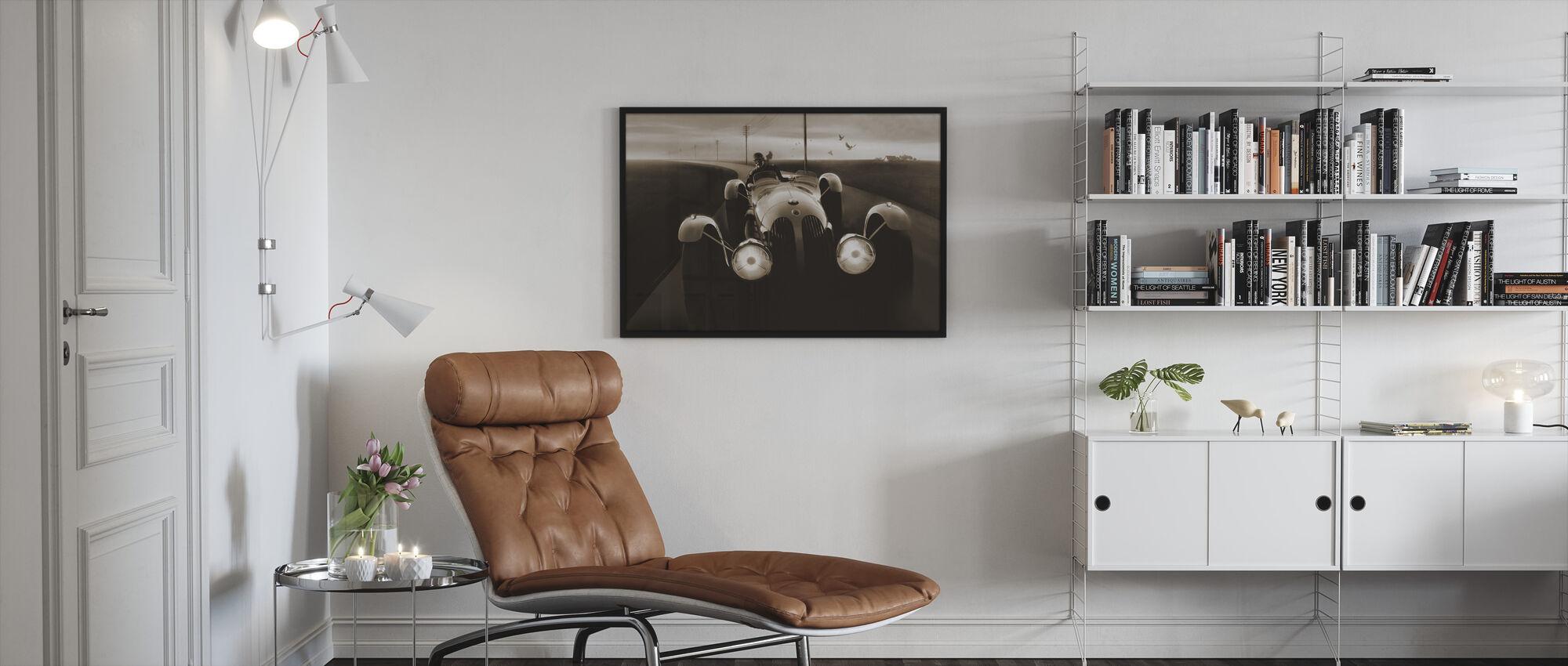 Templars Hirondel Sepia - Framed print - Living Room