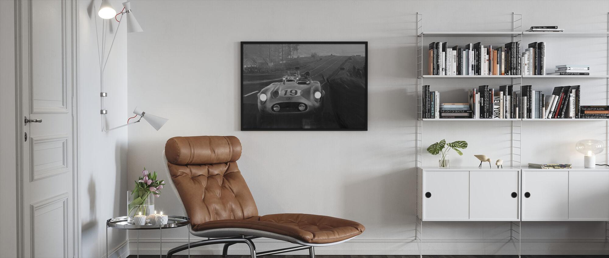 Old Classic Car BW - Framed print - Living Room