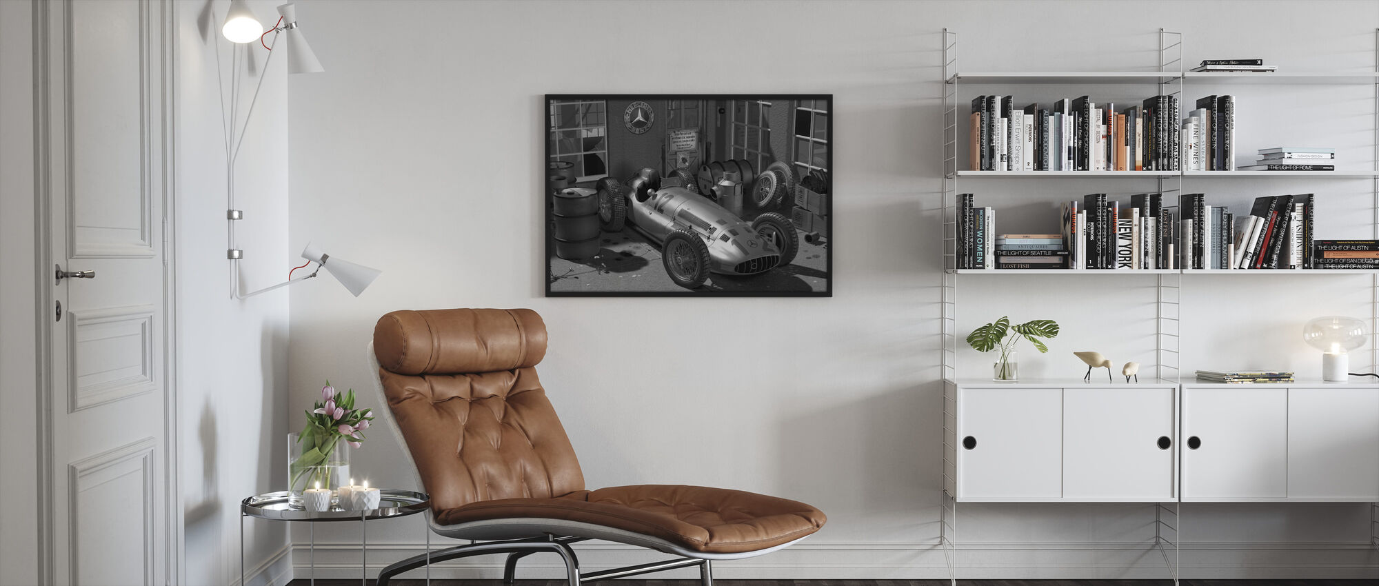 Trolley BW - Framed print - Living Room