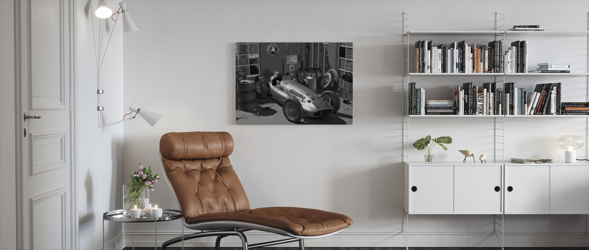 Trolley BW - Canvas print - Woonkamer