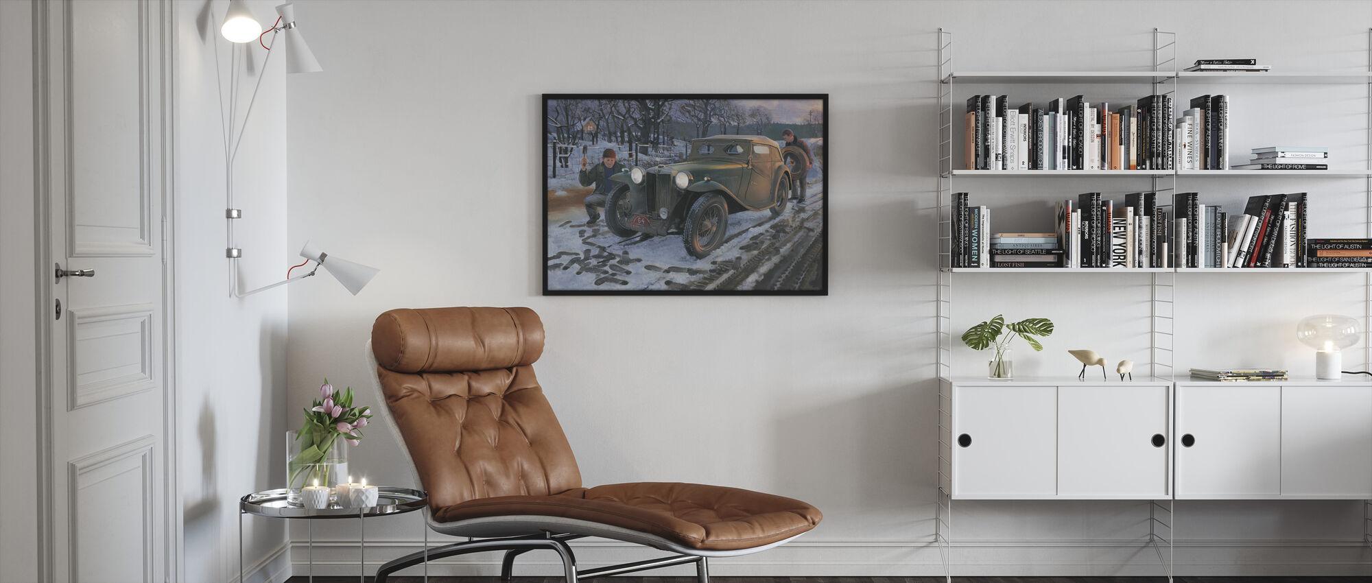 Winter Rally - Framed print - Living Room
