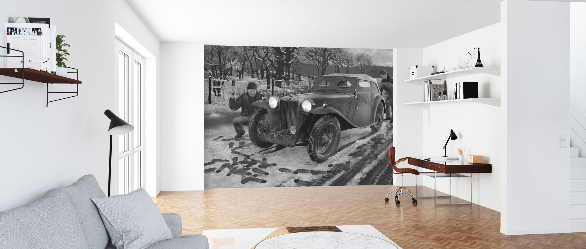 Winter Rally BW - Wallpaper - Office
