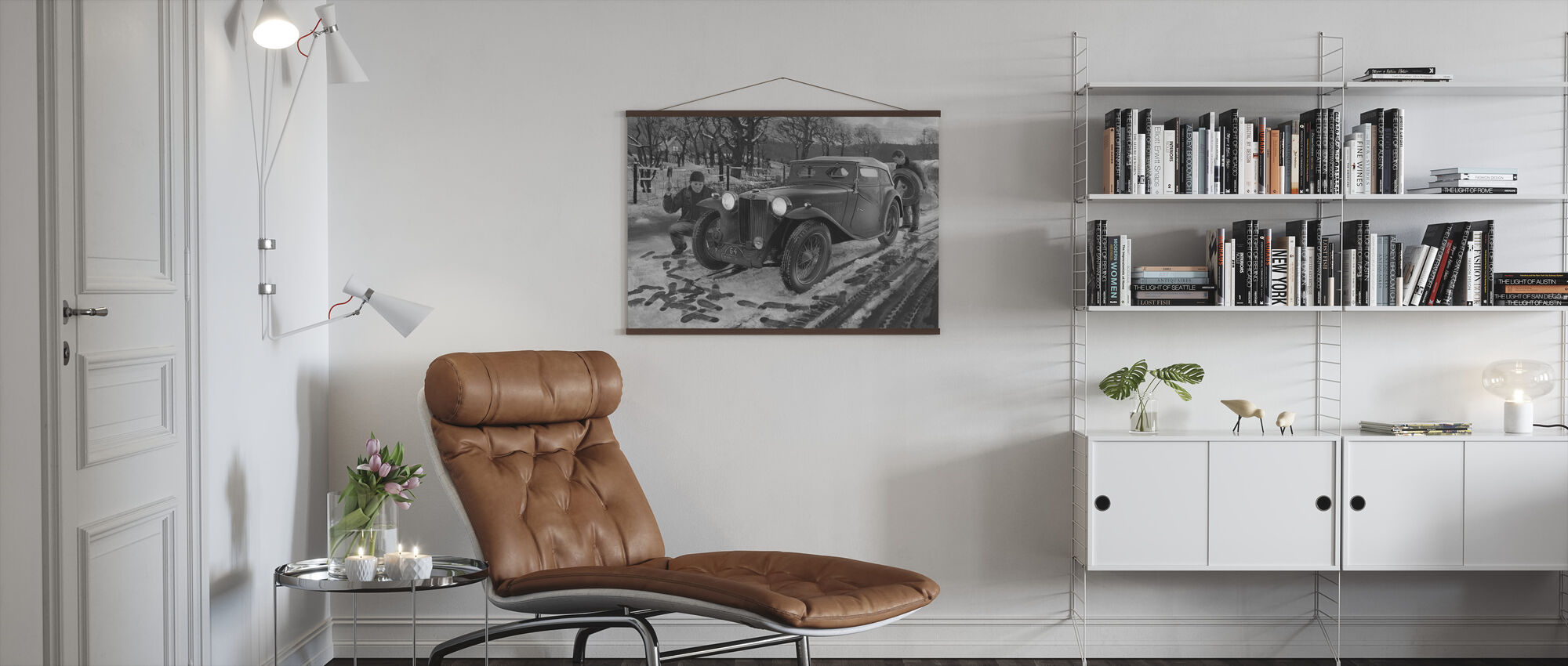Winter Rally BW - Poster - Living Room