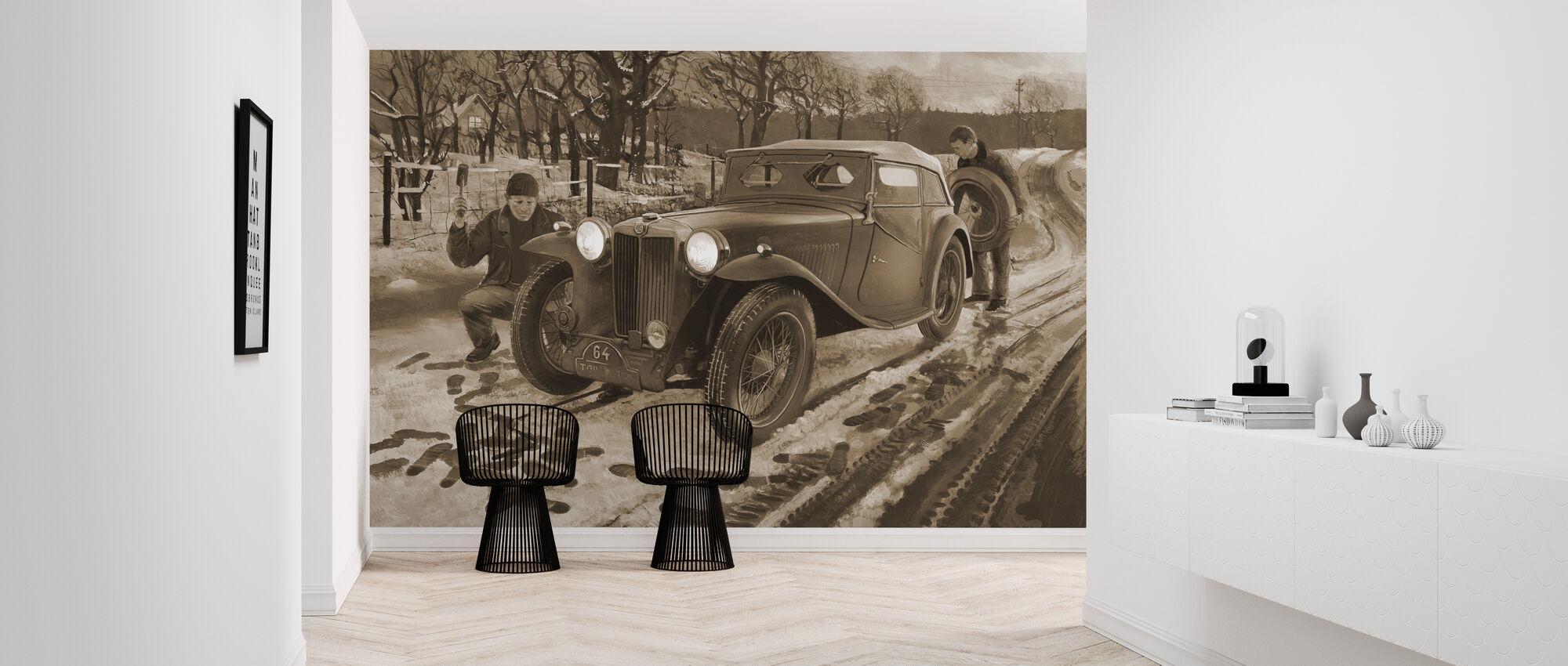 Winter Rally Sepia - Wallpaper - Hallway