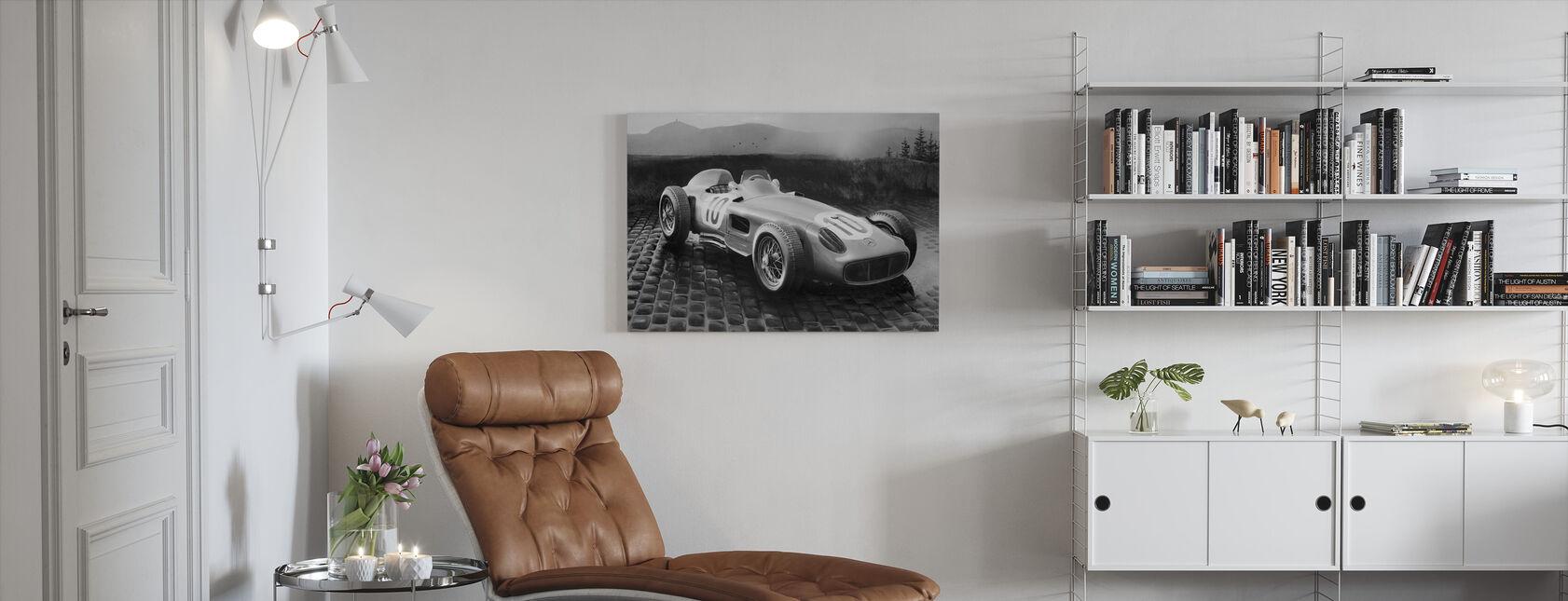 Car 1954 BW - Canvas print - Living Room