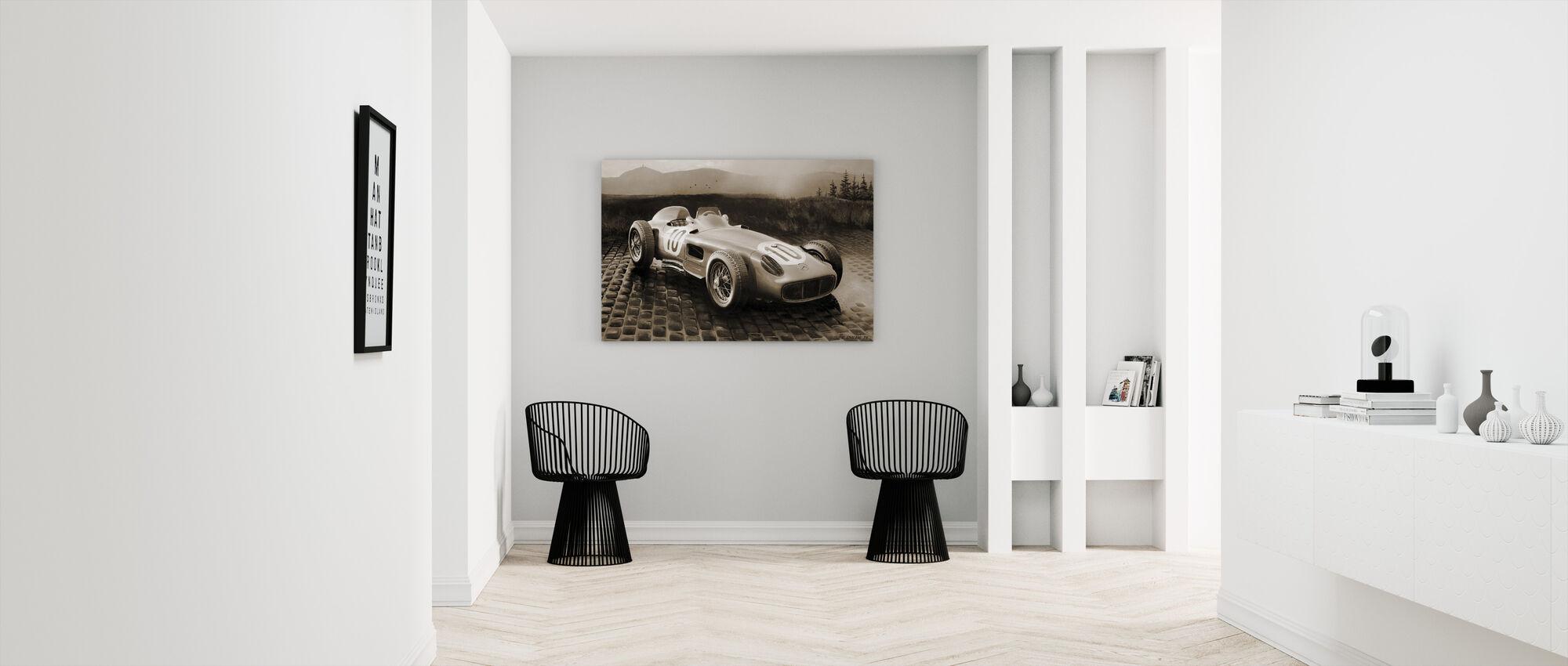 Car 1954 Sepia - Canvas print - Hallway
