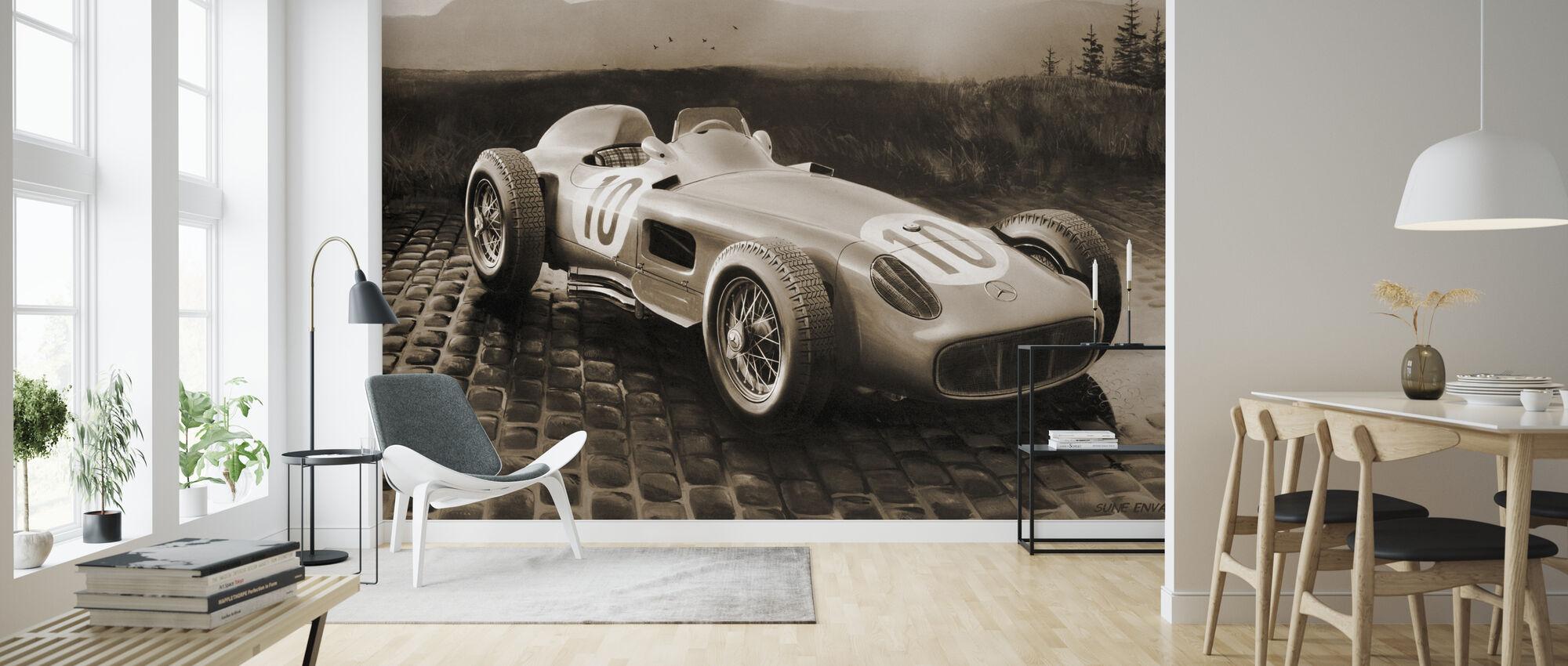 Car 1954 Sepia - Wallpaper - Living Room