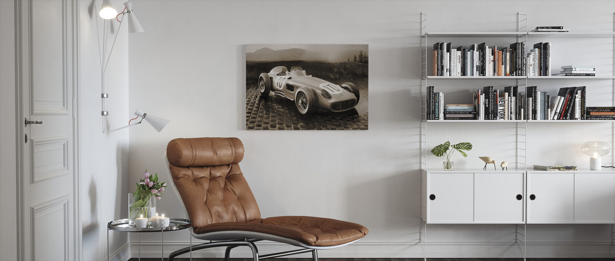Car 1954 Sepia - Canvas print - Living Room