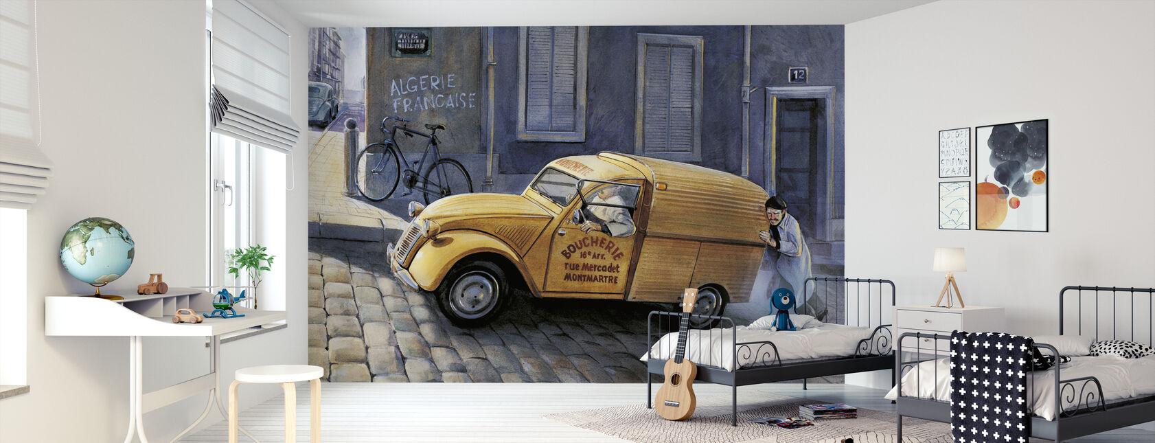 Bil i Paris - Tapet - Børneværelse
