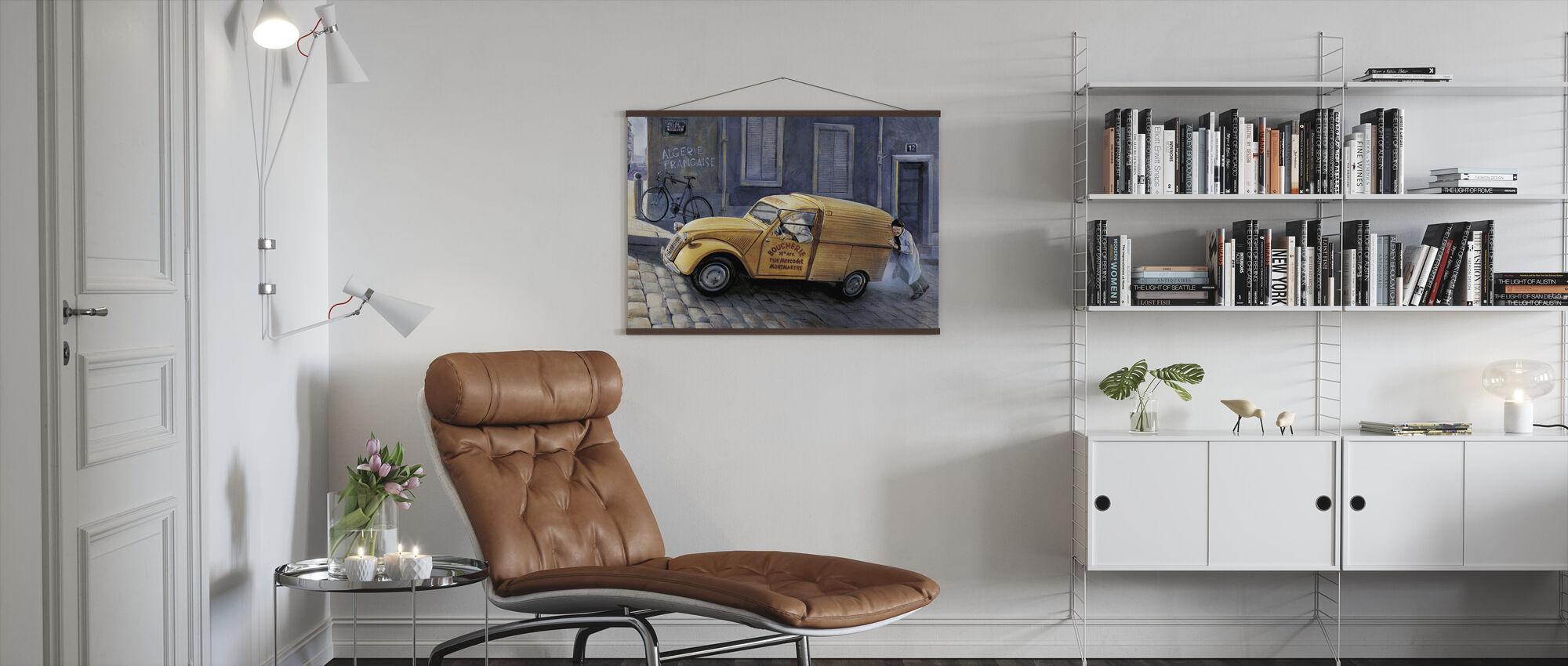 Car In Paris - Poster - Living Room