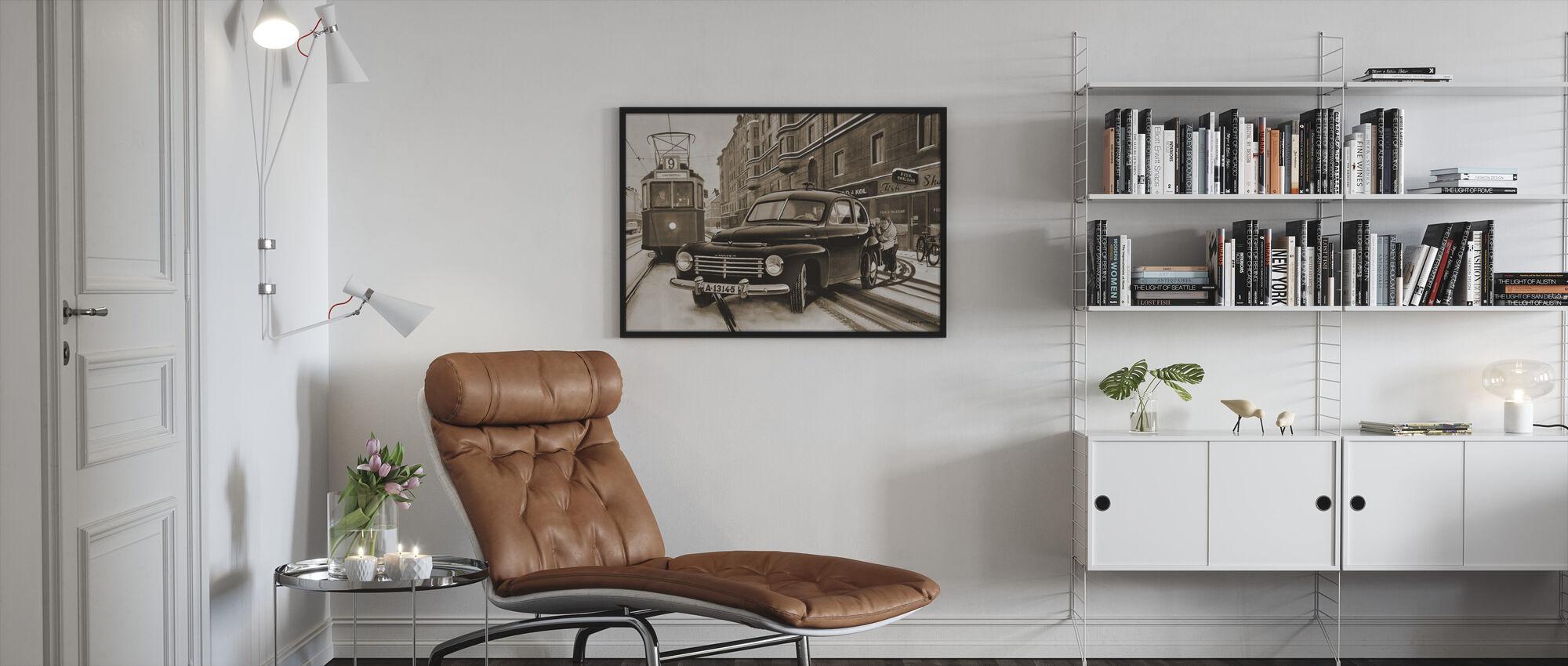 PV In Stockholm, Sweden - Framed print - Living Room