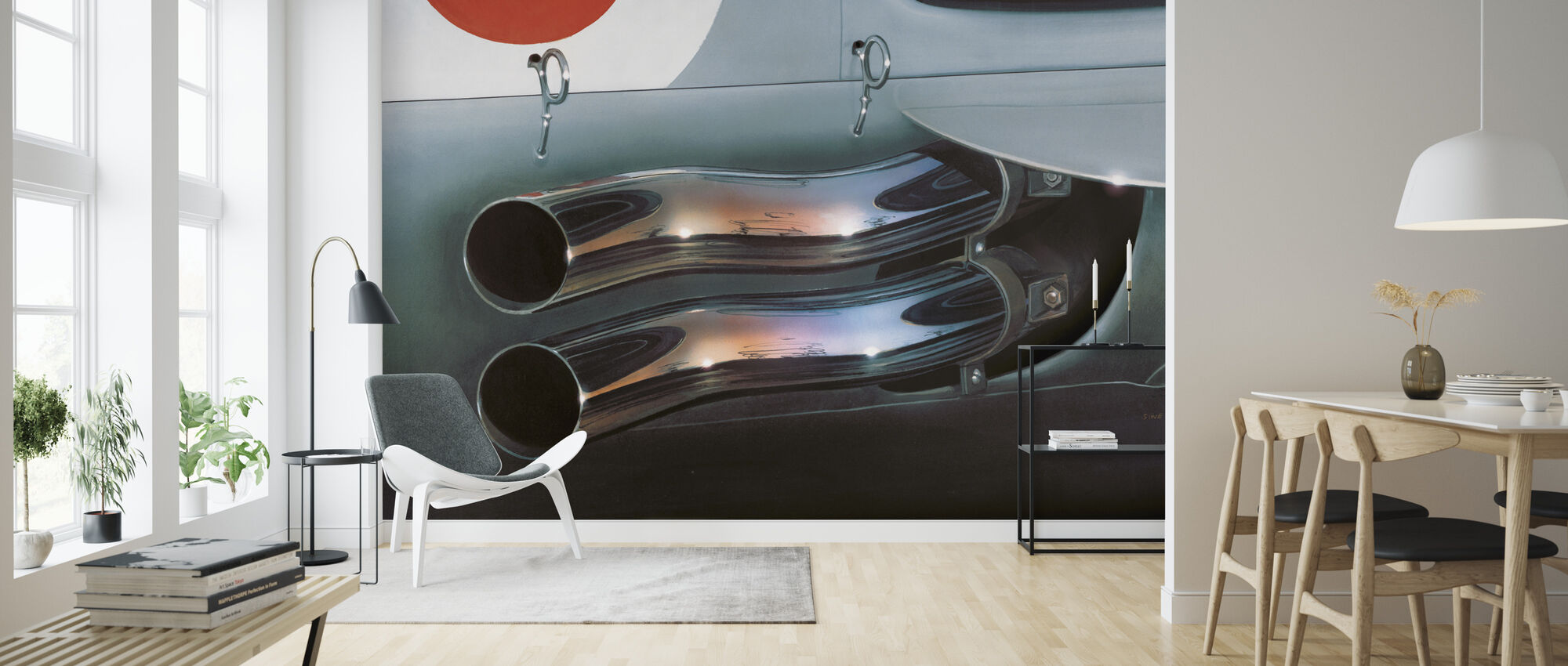 Exhaust Pipes - Wallpaper - Living Room