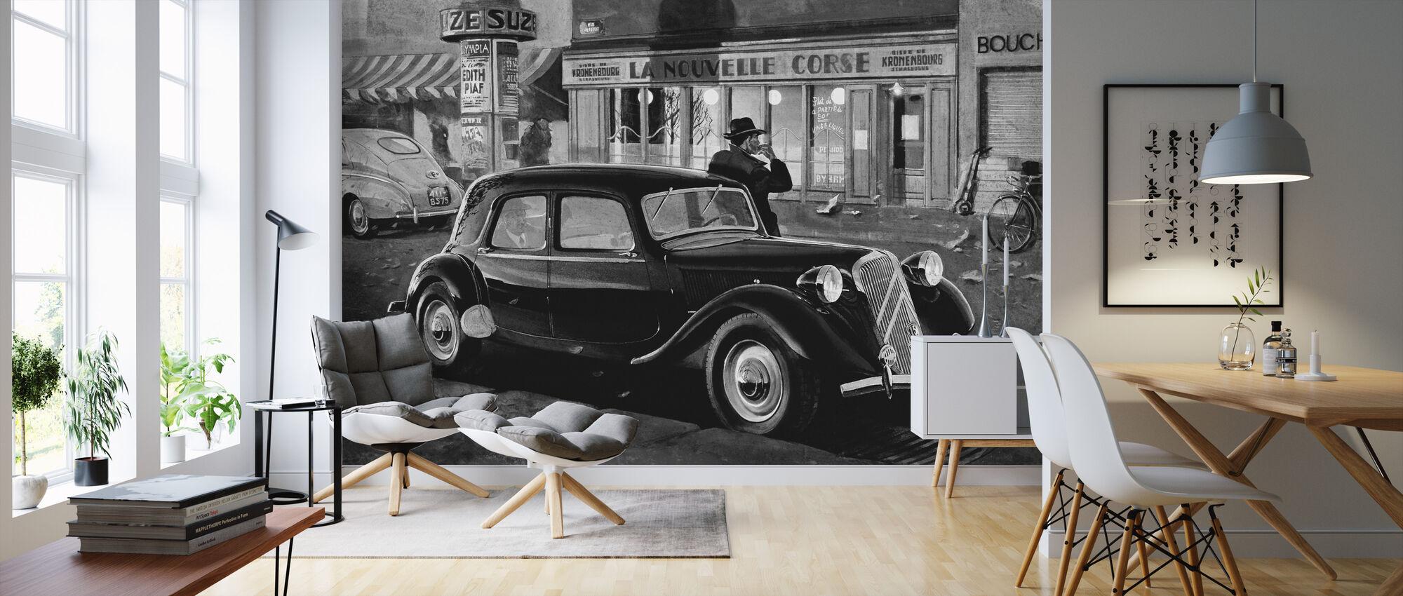 B15 in Paris BW - Wallpaper - Living Room