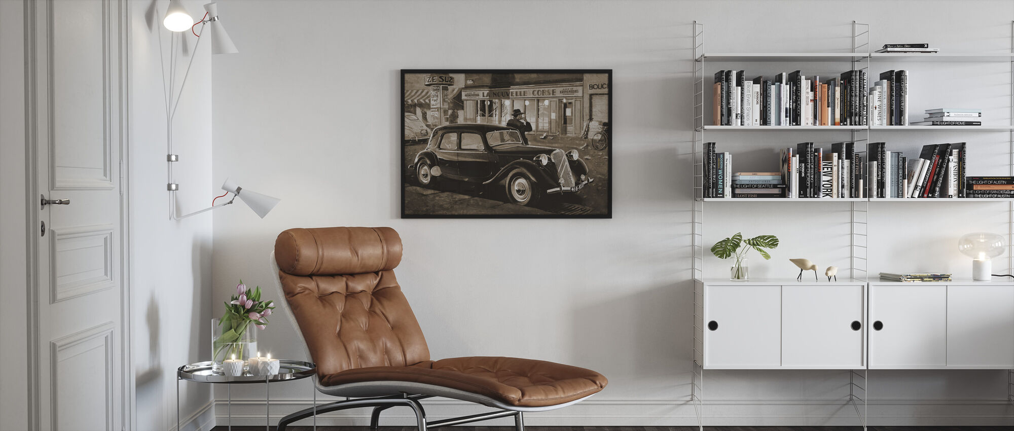 B15 in Paris Sepia - Framed print - Living Room